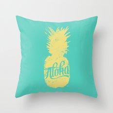 ALOHA - Pineapple print Throw Pillow
