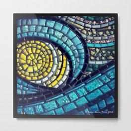 Mosaic Ocean Sun Metal Print