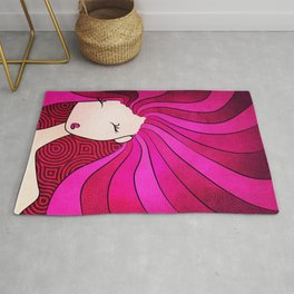 Lady In Pink Rug