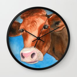Red Heifer Wall Clock