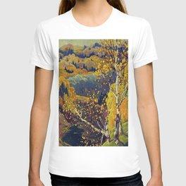 Franklin Carmichael Canadian artist Art Nouveau Post-Impressionism October Gold T-shirt