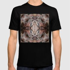 Petrified Wood in Abstract MEDIUM Black Mens Fitted Tee