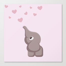 The Cute Elephant Canvas Print