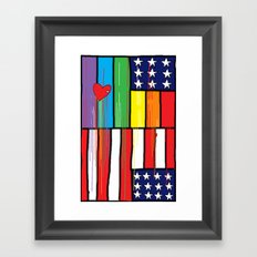 Flags for The Future 34: These colors do run Framed Art Print