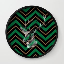 Nordic vivid deer Wall Clock