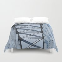 bridge Duvet Covers featuring Bridge by Sarah Shanely Photography