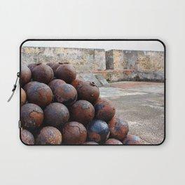 Cannonballs at San Felipe del Morro Laptop Sleeve