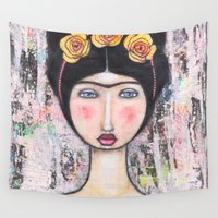 tina Wall Tapestries featuring La-Tina by Natalie Briney