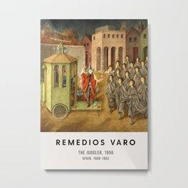 Remedios Varo - The Juggler, 1956 - Exhibition Poster, Gallery Metal Print