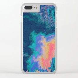 Oil Fractal #1 Clear iPhone Case