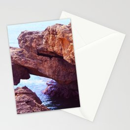 Cave on  mediterranean sea Stationery Cards