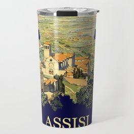 Vintage Litho Travel ad Assisi Italy Travel Mug