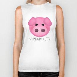 So Piggin' Cute! Biker Tank