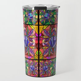 Stained Glass Pot Leaves Travel Mug