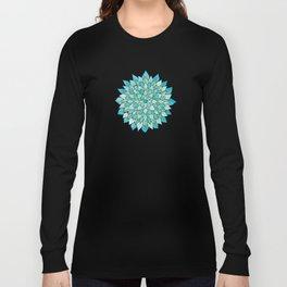 Aqua Mandala Long Sleeve T-shirt