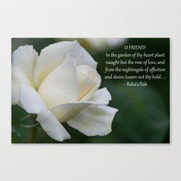 Garden Of Thy Heart Canvas Print