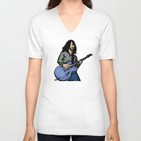 dave grohl V-neck T-shirts featuring Dave by Rachcox