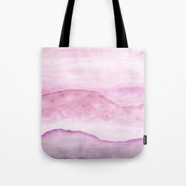 Abstract Watercolor Landscape Pink Tote Bag