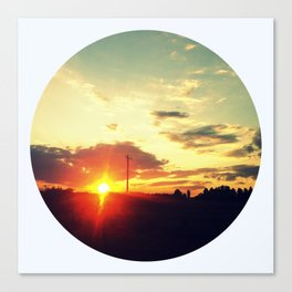 October Sunset Canvas Print
