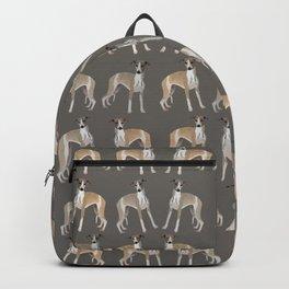 Whippet Love Pattern Backpack