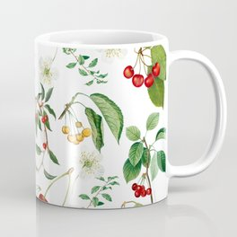 Cherries On White Background Coffee Mug