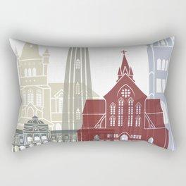 Georgetown skyline poster Rectangular Pillow