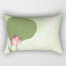 Survive like a lotus flower, rising from the muc Rectangular Pillow
