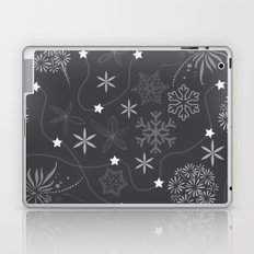 Stars on a string with snowflake and fireworks Laptop & iPad Skin