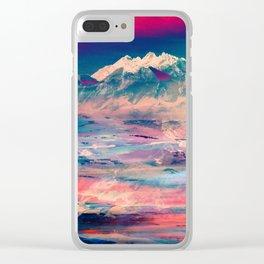 Dusky Mountain Clear iPhone Case
