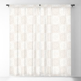 Wedding Thistle Brocade in Candlelight and Cream Blackout Curtain
