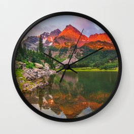 Rocky Mountain Glow Wall Clock
