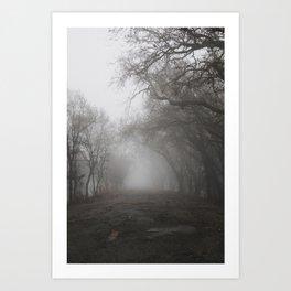Sacramento Fog Art Print