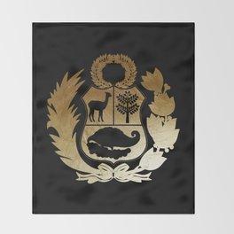 Peru Golden Shield Throw Blanket