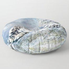 Snow Leopard Floor Pillow