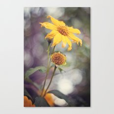 Yellow Florals Canvas Print