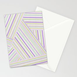 Abstract striped pattern. 2 Stationery Cards