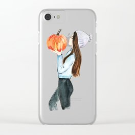pumpkin spice everything Clear iPhone Case