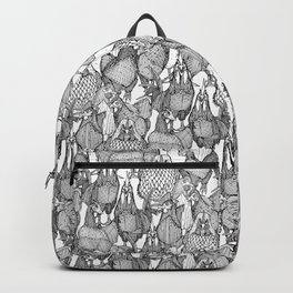 just chickens black white Backpack