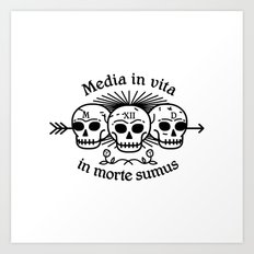 Media in vita in morte sumus Art Print