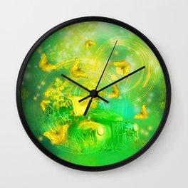 Dream wreck with butterflies Wall Clock