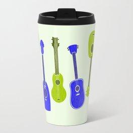 Ukulele Party - Blue Green Palette Travel Mug