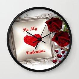Be My Valentine 2 Wall Clock