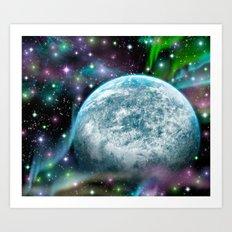 Earth space 180715 Art Print