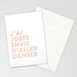 J'ai juste envie d'aller danser - Pink Stationery Cards