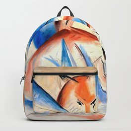 """Franz Marc """"Four foxes"""" Backpack"""