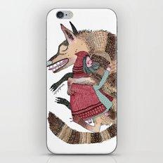 Caperucita y el lobo bueno iPhone & iPod Skin