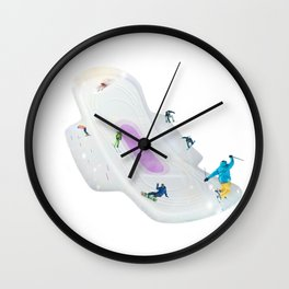 Red run - Rode piste Wall Clock