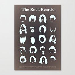 The Rock Beards Canvas Print