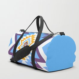 Bright blue native pattern Duffle Bag