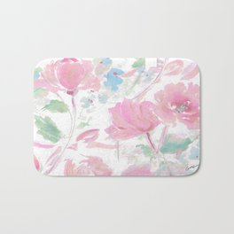 rose ribbons Bath Mat